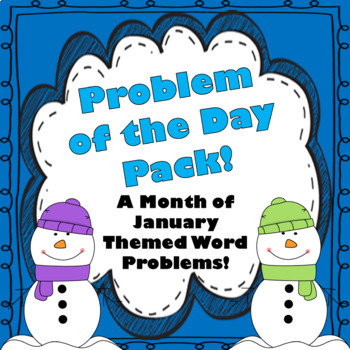 January Word Problems & Math Interactive Notebook Pack!