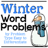 January Word Problems | Winter Word Problems | EDITABLE Addition & Subtraction