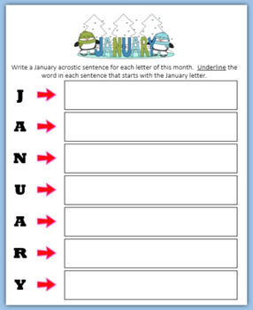 January Word Puzzles