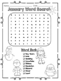 January Word Search 2 Levels