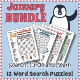 January Word Search Bundle