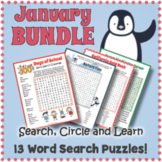 January Word Search BUNDLE