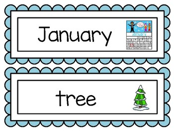 January Word Wall