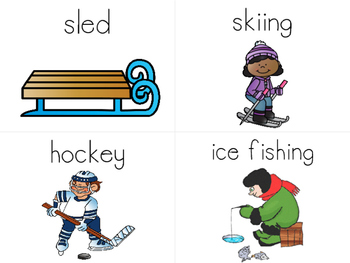 January Word Wall Cards
