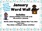 January Word Wall Cards
