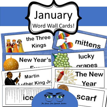 January Word Wall Cards! English version