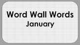 January Word Wall Words