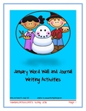 January Word Wall and Writing Journal Activities