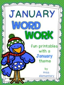 January Word Work