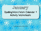 January Word Work Activities