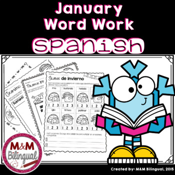 January Word Work {SPANISH}