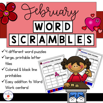february word work word scramble puzzles by teaching in stripes