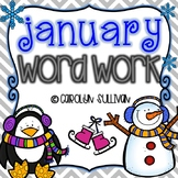 January Word Work for Kindergarten