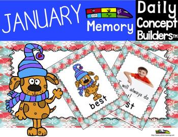 January Activities Memory Game