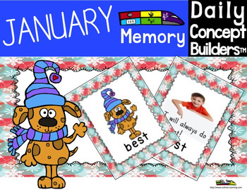 Word of the Day January Memory Game