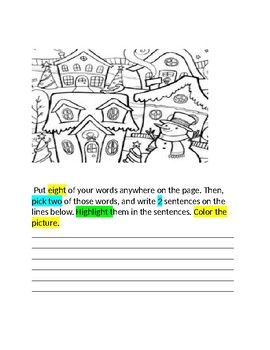 January Words Their Way Booklet for Homework With Self Reflection