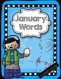 January Words & Writing Mini Pack -visual style