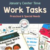 Preschool Winter Activities Task Binder for Pre-K and Spec
