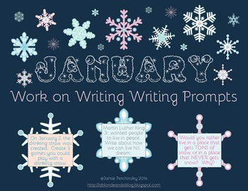 January Work on Writing Writing Prompts!