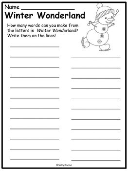 Winter Worksheets - No Prep Just Print and Go
