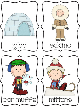 Kindergarten / First  -  January Write The Room with Vowels and Vocabulary