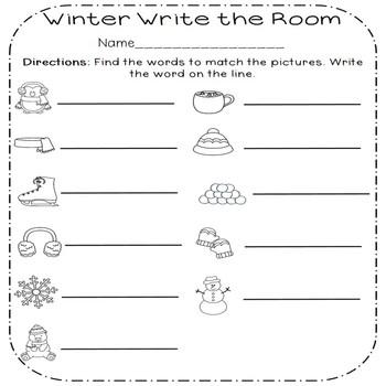 January Write the Room Activities