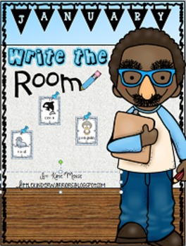 January Write the Room Activities for Kindergarten