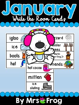 January Write the Room Center / Word Wall Cards
