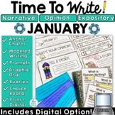 January Prompts Winter Writing Activities