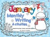 January Writing Activities Bundle: Prompts, Graphic Organizers, and Themed Paper