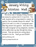 January Writing Activities:  Week 2