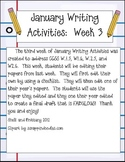 January Writing Activities:  Week 3