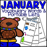 January Writing Activity: Bulletin Board Vocabulary Words & Word Rings
