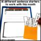 January Writing Activity: Interactive Sentence Starters