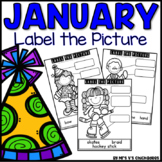 January Writing Activity: Labeling Pictures Using a Word Bank