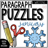 January Writing | Paragraph Puzzles | Distance Learning