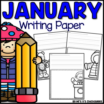 January Writing Activity: Thematic Writing Paper