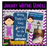 January Writing Bundle (Conversation Starters, Morning Meetings, Journals, etc.)