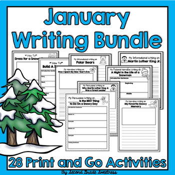 January Writing Bundle (How-To, Informational, Narrative, and Persuasive)