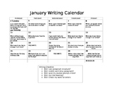 January Writing Calendar