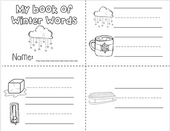 January Writing Centers for Kindergarten