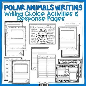 January Writing Choice Activities and Response Sheets