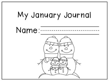 January Writing Activities / January Writing Journal