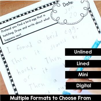 January Writing Journal Prompts for Preschool and Kindergarten