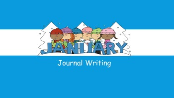 January Writing Journal/ prompts/ free writing/ independent