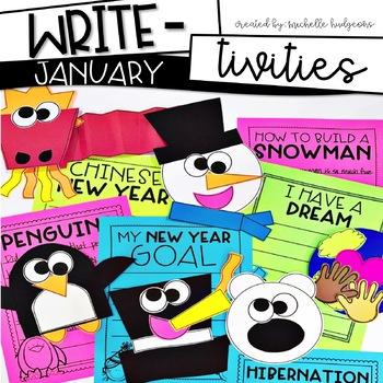 January Winter Writing Prompts |Penguins, Snowmen, MLK Day, New Year, Polar Bear