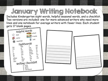 January Writing Notebook