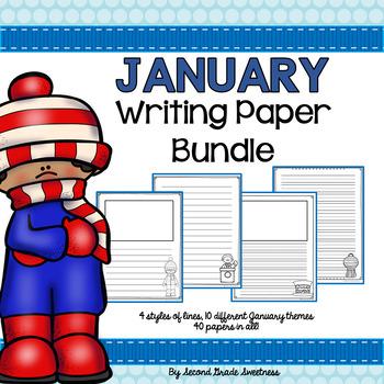 January Writing Paper Bundle