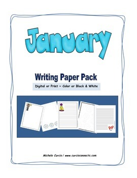January Writing Paper Pack