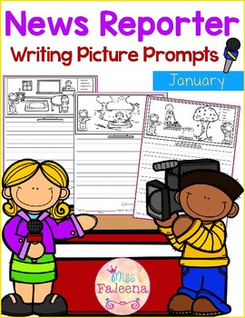 January Writing Picture Prompts - News Reporter